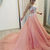 Charming Pink Tulle Long Strapless Prom Dress, Evening Dress With Applique,