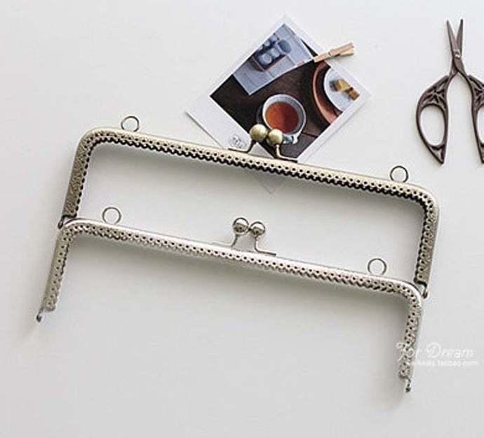 10 inch clutch frame sewing metal purse frame purse making supplies silver anti
