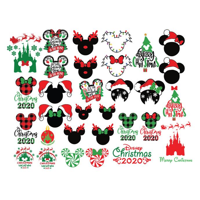 Disney Christmas Svg Bundle Christmas Svg Cricut By Tee62s On