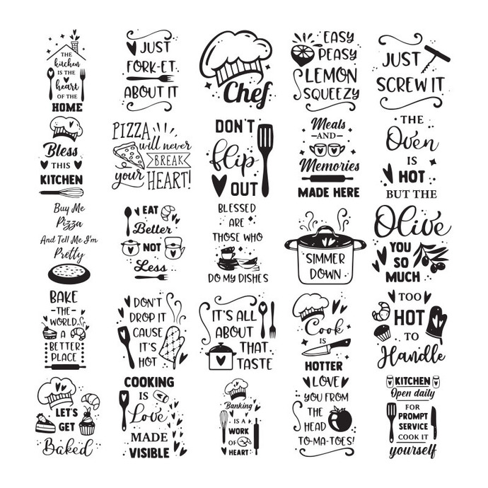 Kitchen SVG Bundle, sign making svg, svg designs, cooking svg, baking svg, svg