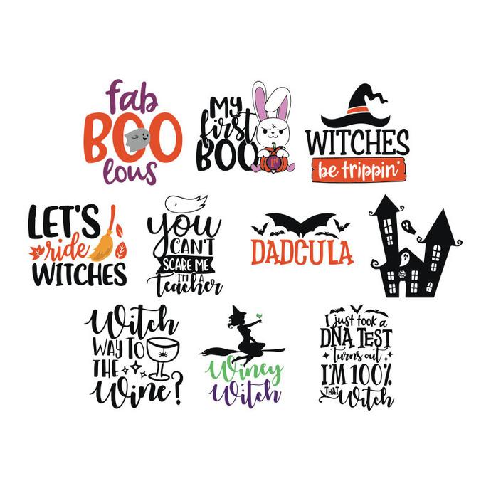alloween Bundle SVG, Big Halloween SVG Bundle, Witch SVG Bundle