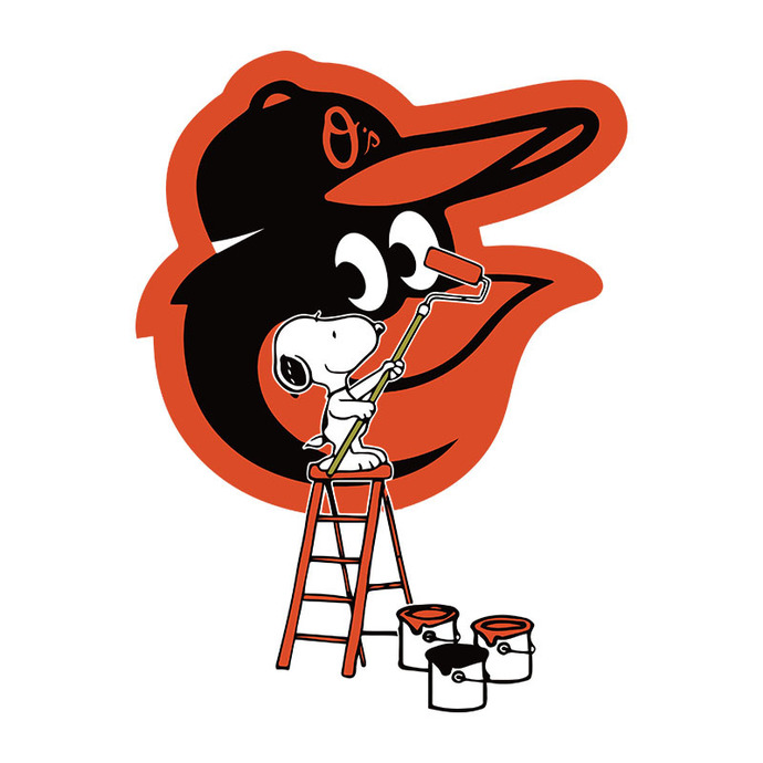 Snoopy Paints The Baltimore Orioles Logo Svg, Baltimore Orioles Digital download