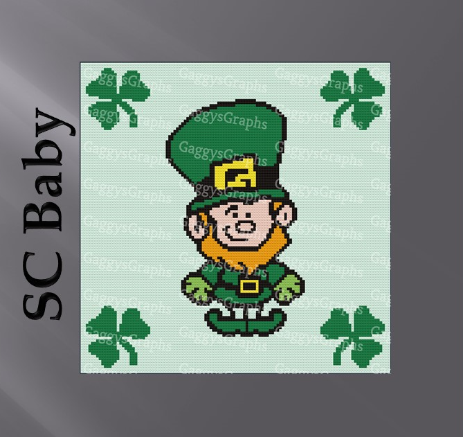 Leprechaun-SC Baby - Graph + color coded line by line block written instruction