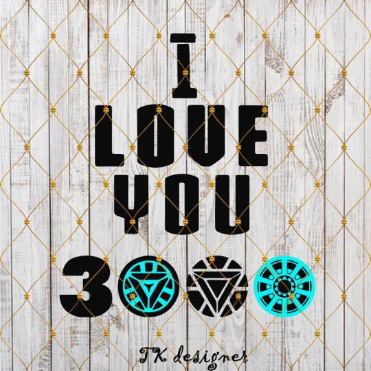 I Love You 3000 Times Design Svg Png By Digital Nosay On Zibbet