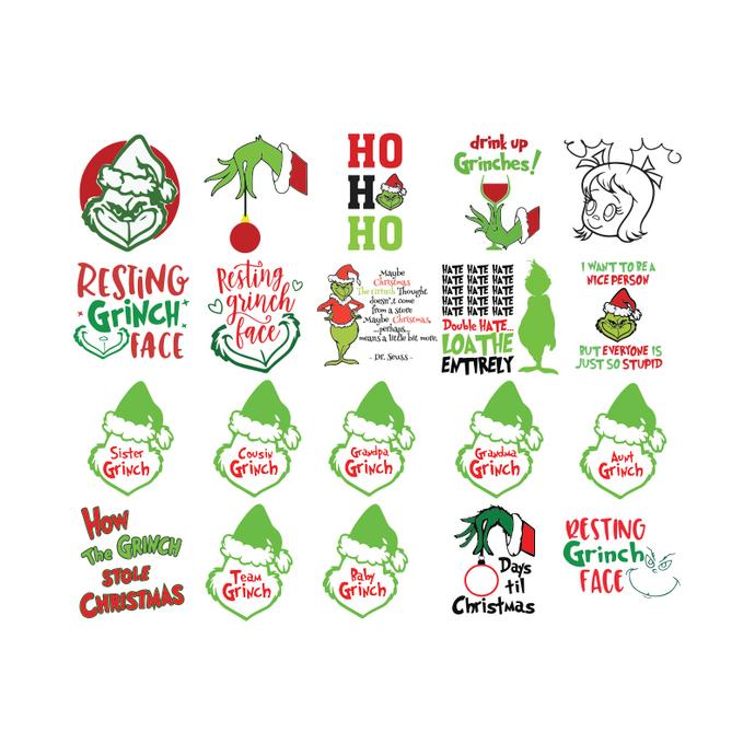 Grinch svg, Christmas Svg, Cricut, Bundle, Dr.seuss Svg, Merry Christmas Svg6