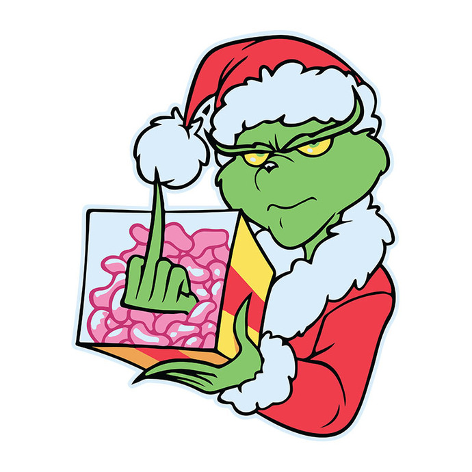 The Grinch Fk Christmas Svg, The Grinch Svg, Dxf, Png Digital