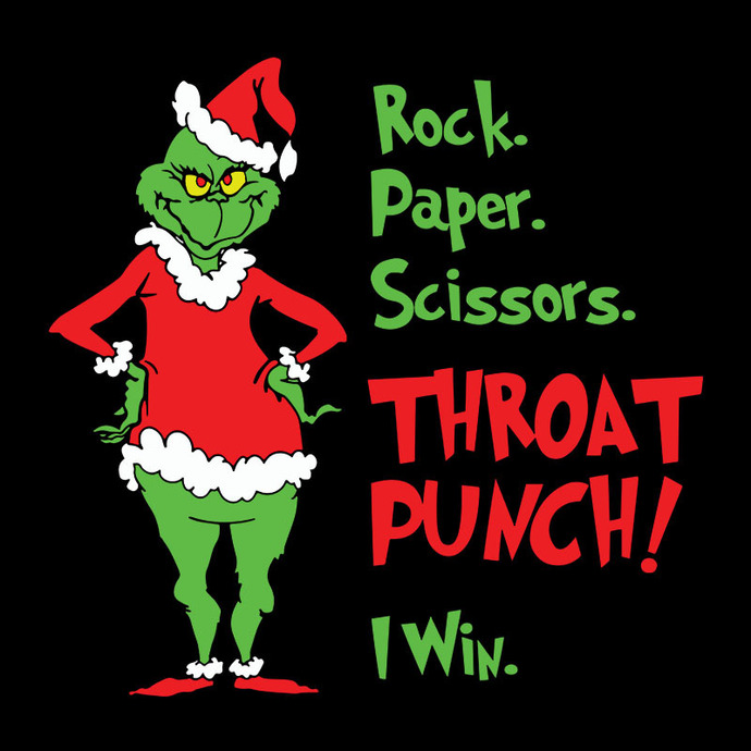 Grinch Rock Paper Scissors Throat Punch I Win Svg, The Grinch Xmas Digital