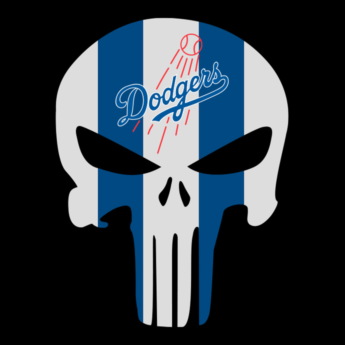 Los Angeles Dodgers Skull Svg, Los Angeles Dodgers Digital