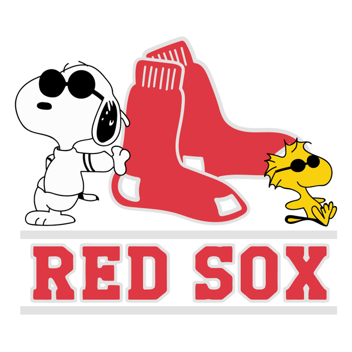 Boston Red Sox With Snoopy Svg, Boston Red Sox Png Digital Download