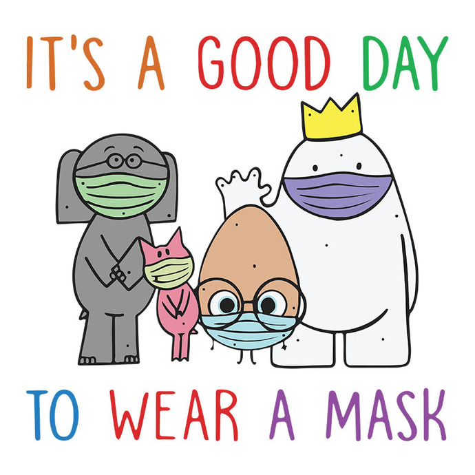 Teacher it's a good day to wear a mask cute,funny,unisex for back to school PNG