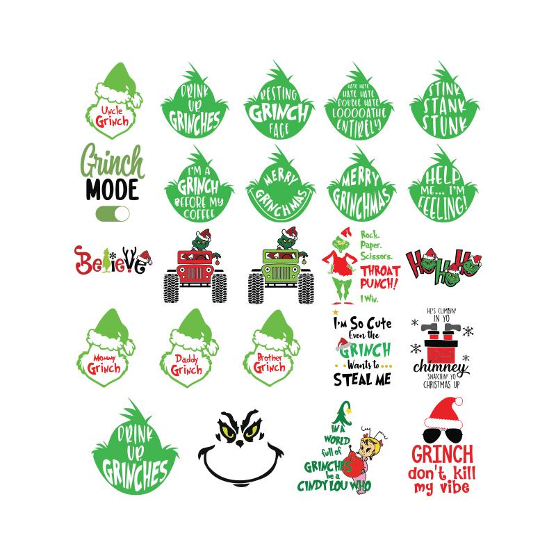 Download Grinch svg, Christmas Svg, Cricut, Bundle, by Bandassvg on ...