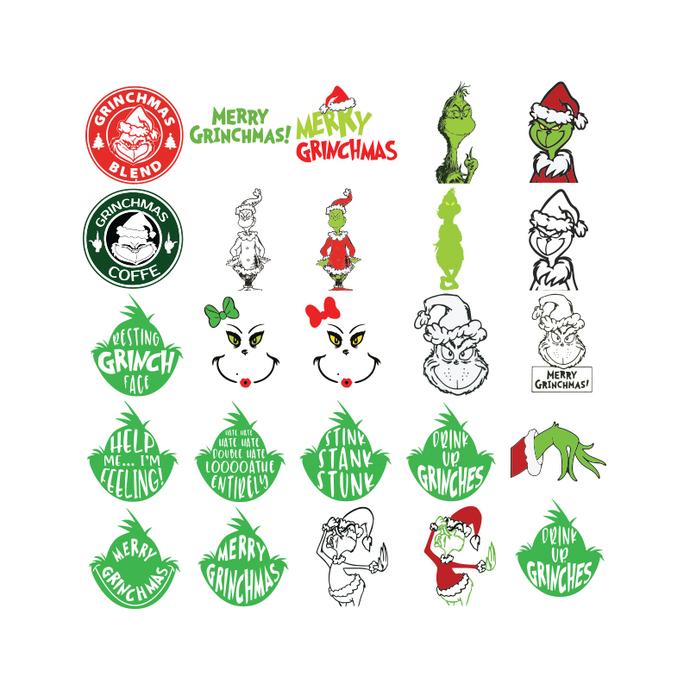 Grinch svg, Christmas Svg, Cricut, Bundle, Dr.seuss Svg, Merry Christmas Svg2