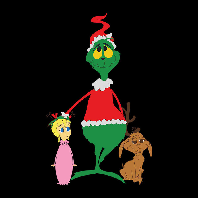 The Grinch And Friends Svg, Dxf, Png Digital