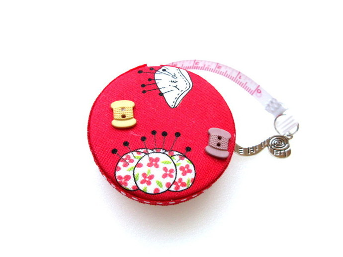 Tape Measure Pin Cushions and A Hedgehog Small Retractable Measuring Tape