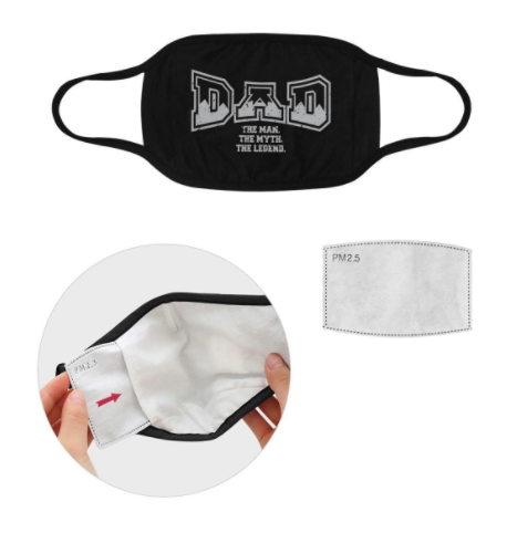 Dad The Man The Myth The Legend Washable Reusable Face Mask With Filter Pocke,