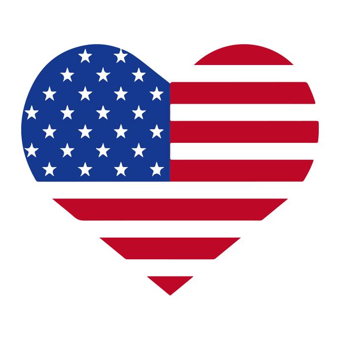 USA Heart Flag, usa heart svg, usa heart png, usa heart vector, flag heart