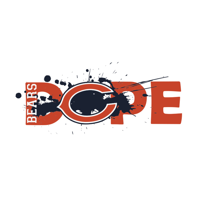 NFL Football DOPE, Chicago Bears Svg, Cricut File, Football Svg