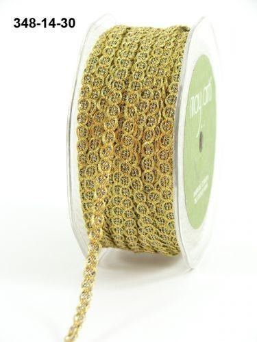 May Arts Gold Metallic Chain Cord. 1/4 inch x 72 inches.