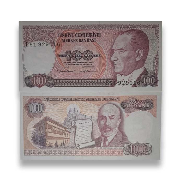 """Turkey 100 Lira """"Ataturk"""" - 7th Issue L. 1970 (1984-2002) Pick#194"""
