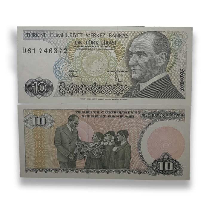 Turkey 10 Lira L. 1970 (1984-2002) UNC Banknote