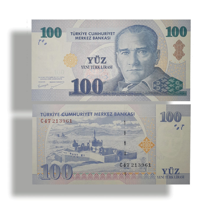 "Turkey 100 YTL ""New Lira"" UNC banknote 2005"