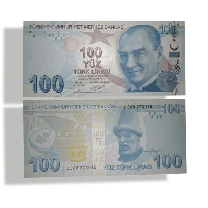 TURKEY current 100 Lira UNC banknote 2009-2019