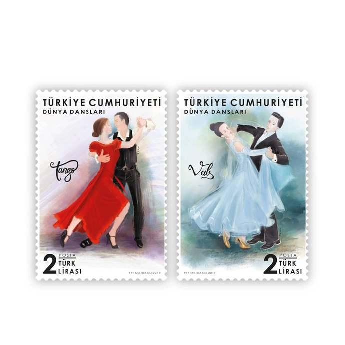 WORLD DANCES Stamps set of 2 MNH Turkey 2019