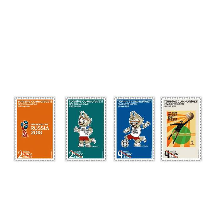 FIFA World Cup Russia 2018 MNH Stamps set Turkey