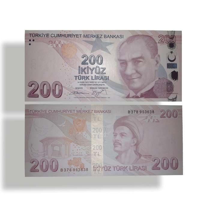 Turkey 200 Lira Crrent UNC banknote 2009-2019