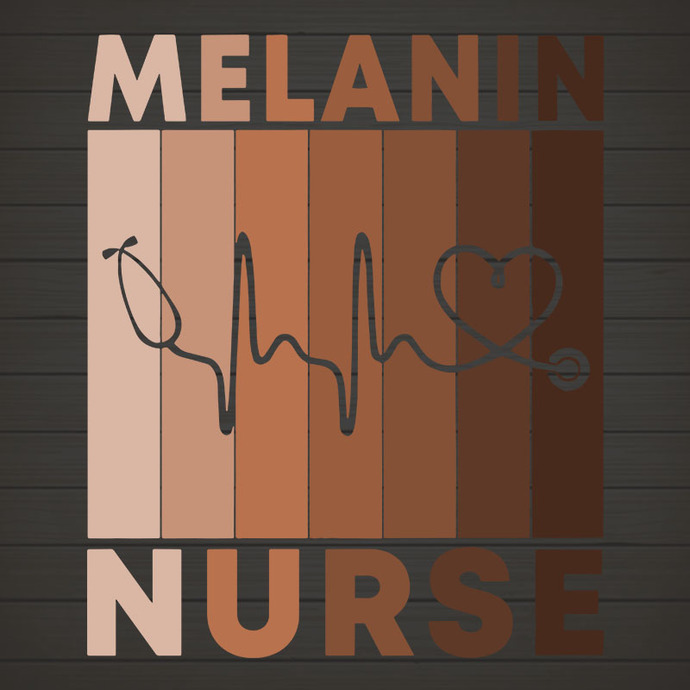 Melanin Nurse SVG, Nurse Gifts, NURSELIFE , Black Nurse svg