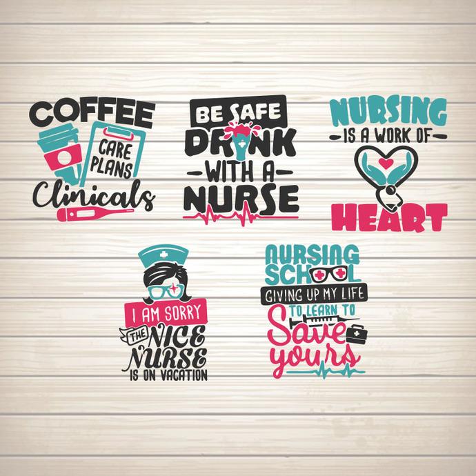 Nurse Bundle svg, dxf eps png cutting files clipart