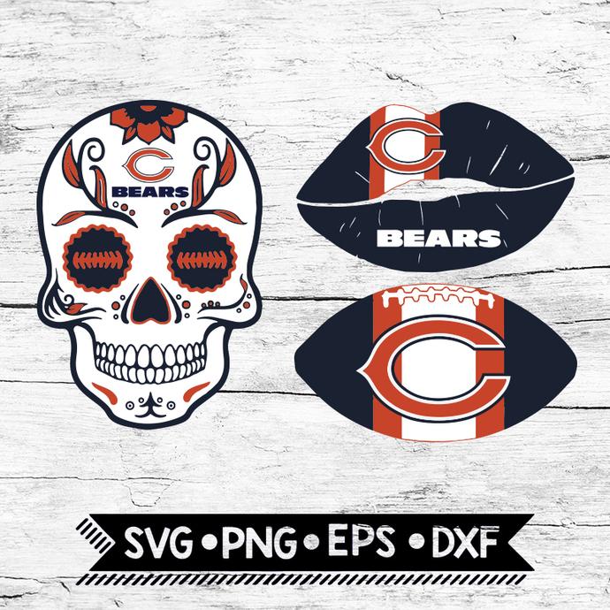 Chicago Bears Svg, NFL Svg, Bundle, Svg, Cricut File, Football Svg, Skull Svg