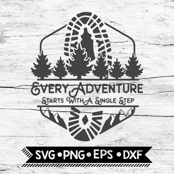 Every Adventure Starts With A Single Step Svg, Hiking Svg, Camping Svg, Cricut