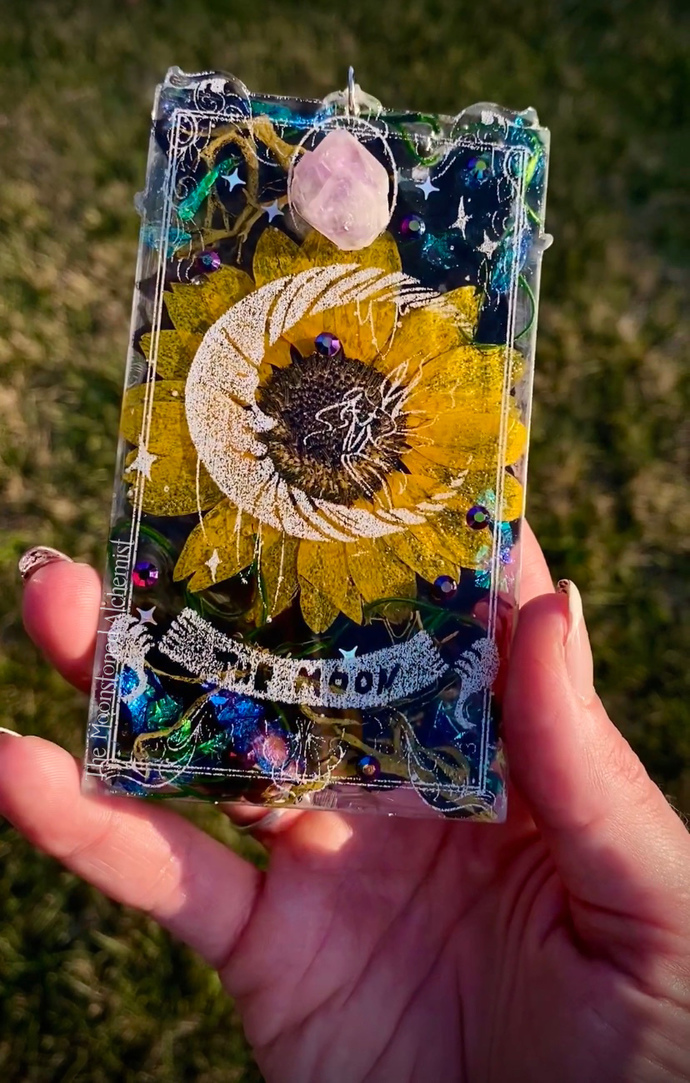 Moonstoned Botanical The Moon Tarot Card