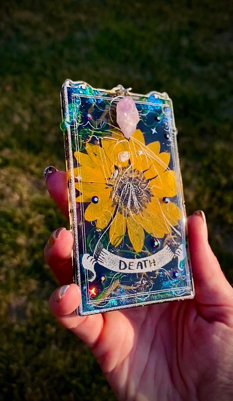 Moonstoned Botanical Tarot Death Card