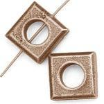6 Tierra Cast Antique Copper Square Bead Frame
