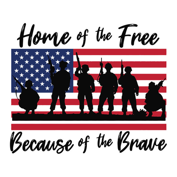 Home Of The Free Because Of The Brave Svg By Bandassvg On Zibbet