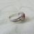 vintage Judith Ripka sterling rhodolite heart ring sz.11 signed mint