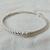 vintage Judith Ripka signed sterling czs bangle bracelet mint unused