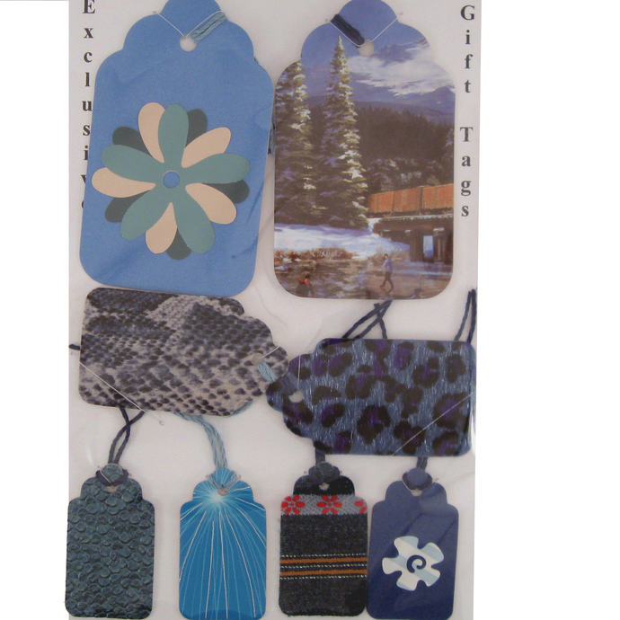 Blue Themed Gift Tags