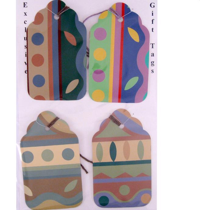 Geometric Wallpaper Gift Tag Set