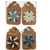 Flowers on Brown Wallpaper Gift Tag Set