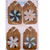 Brown Wallpaper and Flowers Gift Tag Set