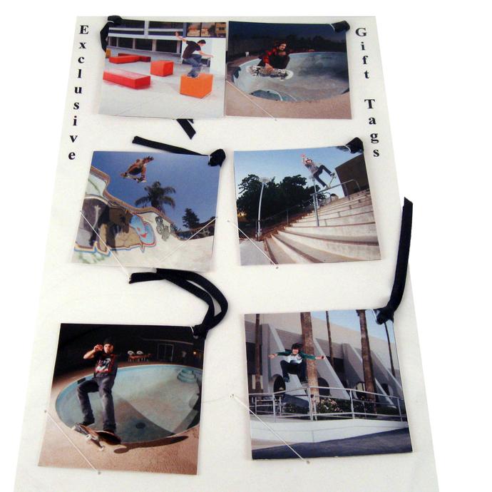 Skateboarding Gift Tag Bookmark Set
