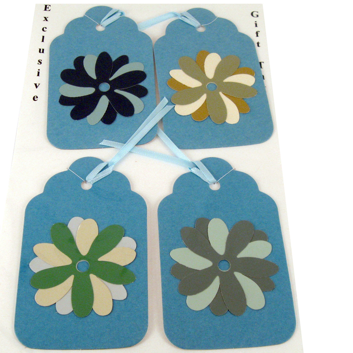 Blue Flower Variety Gift Tag Set