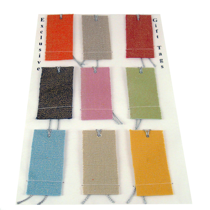 Shiny Colorful Fabric Gift Tags