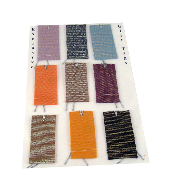 Colorful Shiny Fabric Gift Tags