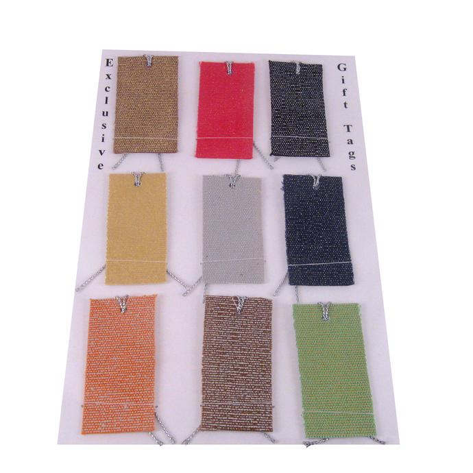 Colorful Shiny Fabric Gift Tag Set