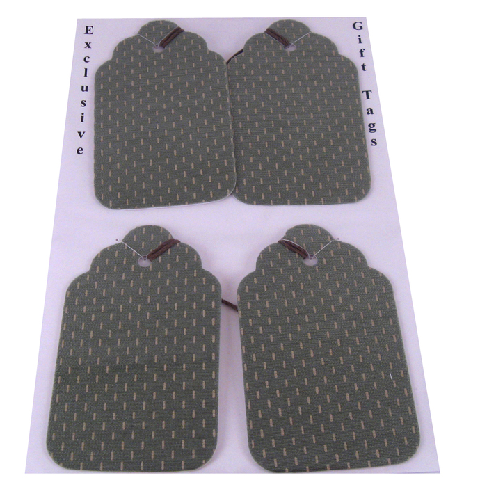 Large Green Fabric Gift Tags