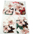 Wallpaper with Pink Flowers Tag Set